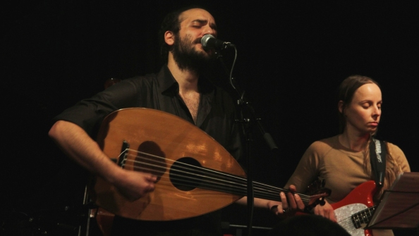 Tamer Abu Ghazaleh performing at the Vortex in 2012.
